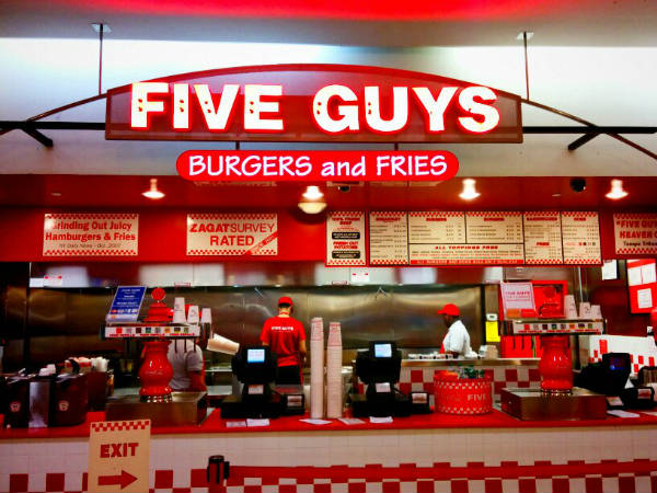 five guys chicago