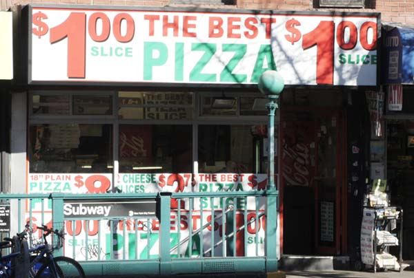 pizza por un dollar en nueva york