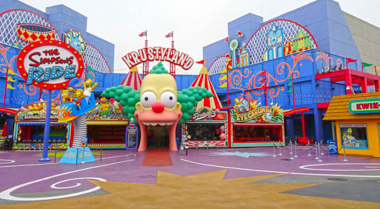 universal studios hollywood simpsons krustyland