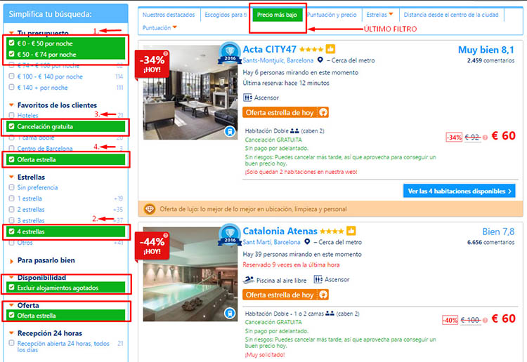 EJEMPLO BOOKING RESERVA