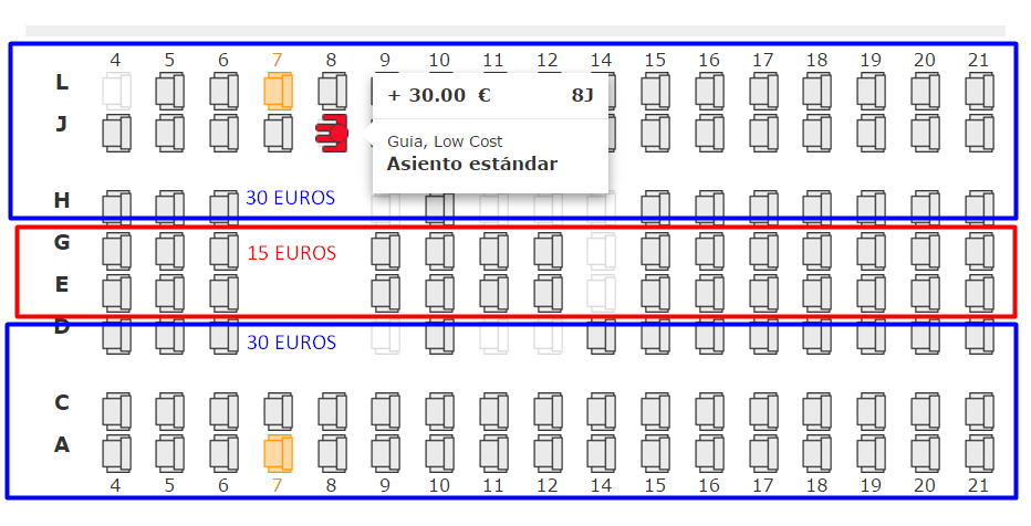 ELECCION ASIENTOS LEVEL IBERIA