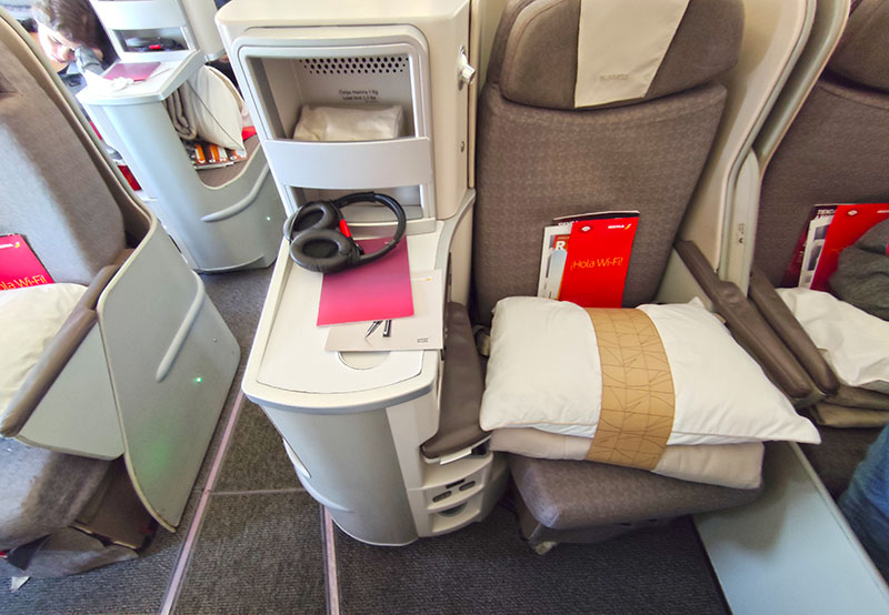 asiento 1g business de iberia