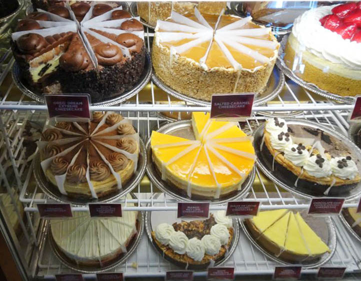 comer en los angeles The Cheesecake Factory pasteles