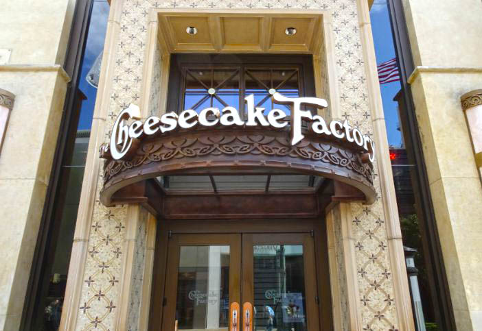 comer en los angeles The Cheesecake Factory