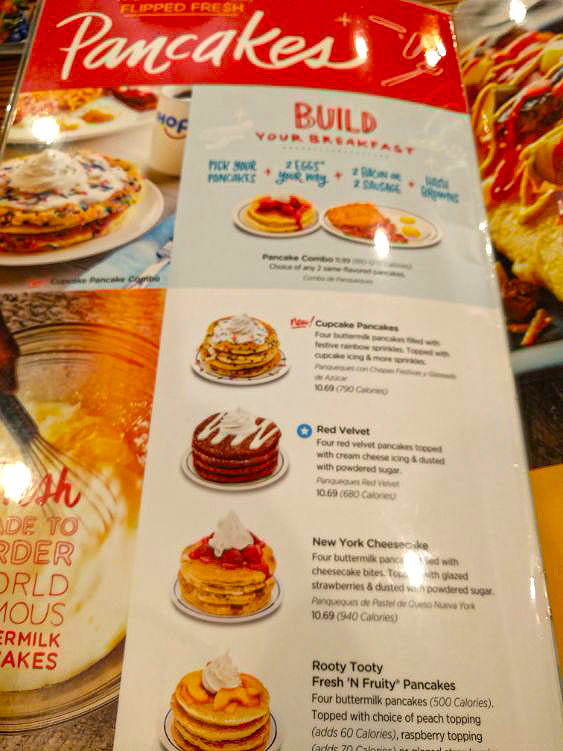 comer en los angeles ihop carta