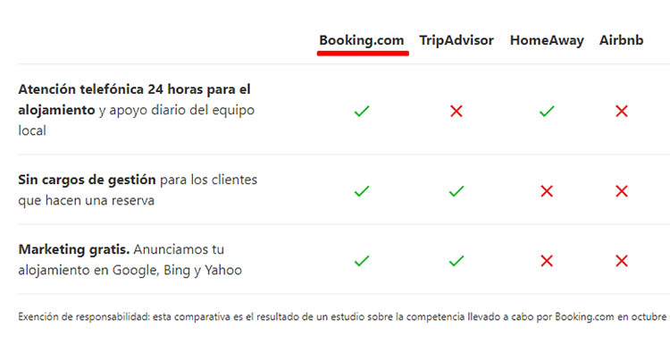 comparacion booking airbnb