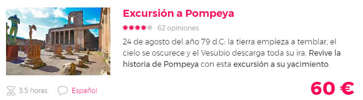 excursion a pompeya con guia espanol