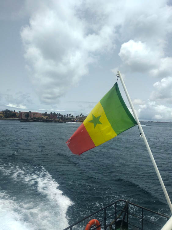 goree llegada en ferry