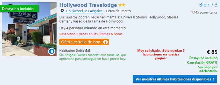 la travelodge hollywood
