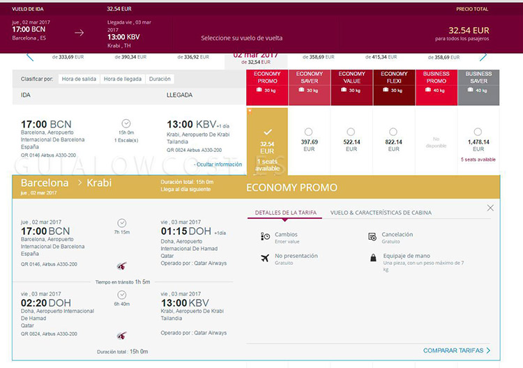 promo billete de oro qatar airways
