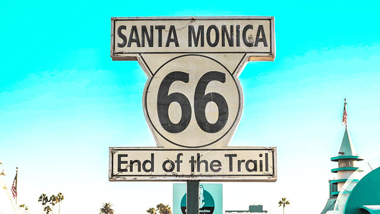 los angeles santa monica end of trail 66