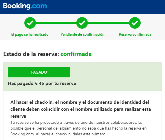 reserva de hotel con booking basic
